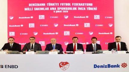 Denizbank Türk Milli Takımına Sponsor Olduğunu Açıkladı