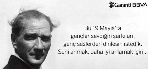Garanti BBVA 19 Mayıs'ı Atatürk Şarkıları ile Kutladı